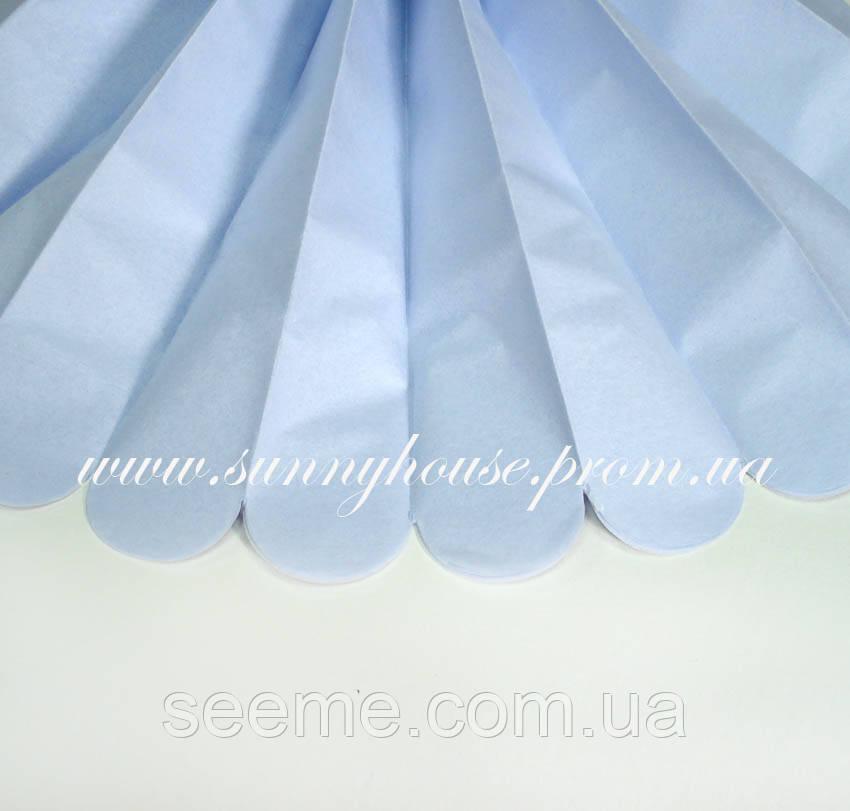 Бумажные помпоны из тишью «Mist», диаметр 35 см.