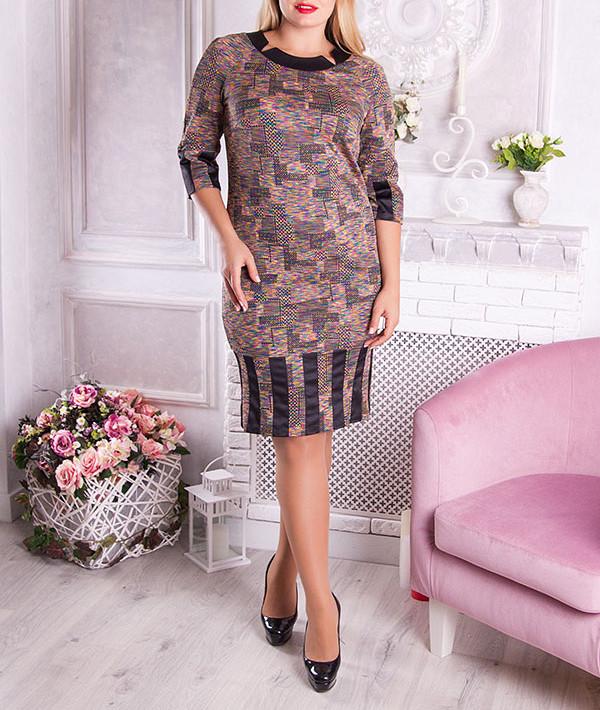 """Стильное платье женское """"Алсея"""", размеры от 48 по 56"""