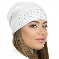 """Женская шапка Visse """"Рина"""" белая"""