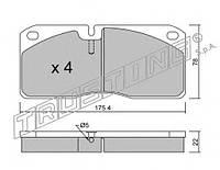 Колодки тормозные передние, дисковые FOMAR 471681, 55471681; 1906297, 1906043; WVA 29067 на Iveco Eurocargo