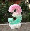 """Аренда декоративной цифры """"3"""" ручной работы, цвет мятно-розовый, фото 2"""