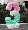 """Аренда декоративной цифры """"3"""" ручной работы, цвет мятно-розовый, фото 3"""
