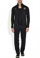 Спортивный костюм Nike-Barselona, найк, Барселона, лого вышито, черный, спортивный, еластик, О2