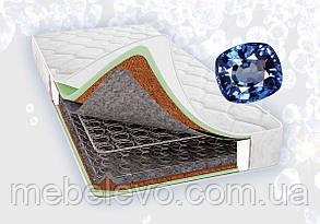 Двуспальный матрас Сапфир 180х200 Світ Меблів h21  зима / лето кокос боннель 130кг, фото 2