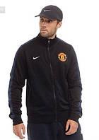 Спортивная кофта Nike-MU, найк, МЮ, черная, вышивка, спортивная, стильная, О13