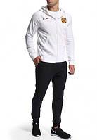 Спортивный костюм Nike-MU, найк, МЮ, белый, с красной вставкой, мужской, спортивный, О15