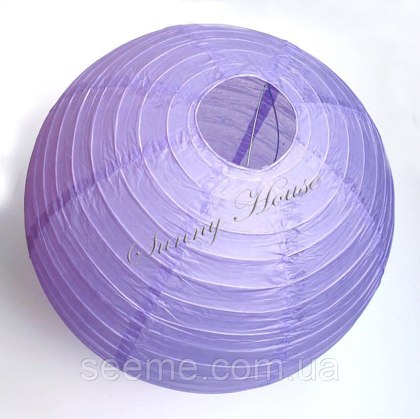 Шар подвесной декоративный «Плиссе Классик», диаметр 35 см.Цвет лавандовый
