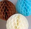 Шар подвесной декоративный «Соты», диаметр 30 см.Цвет карамель, фото 3