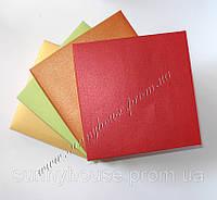 Коробка для свадебного приглашения, 150х150х30 мм. Красный