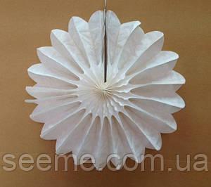 """Бумажный декор """"Вертушка"""", 40 см, цвет молочный"""