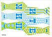 """Святкова гірлянда-краватки в стилі """"Little man"""", 1 аркуш, фото 2"""