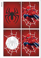 """Праздничная гирлянда в стиле """"Spider-Man"""", 1 лист"""