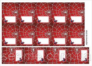 "Карточки на стол в стиле ""Spider-Man"", 1 лист"