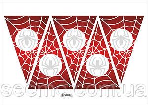 """Праздничная гирлянда-флажки в стиле """"Spider-Man"""", 1 лист"""