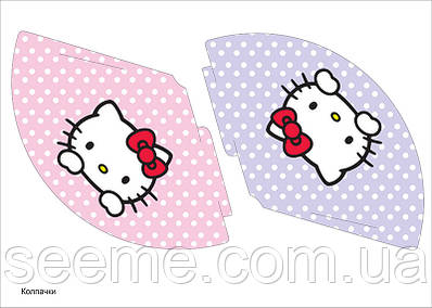 "Праздничные колпачки в стиле ""Hello Kitty"", 1 лист"