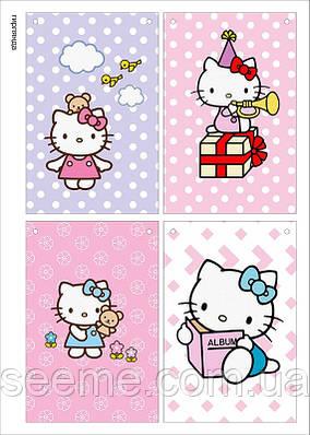 "Святкова гірлянда у стилі ""Hello Kitty"", 1 аркуш"