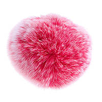 Брелок Бумбон нат. мех на резинке   тёмно розовый