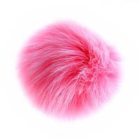 Для Сумок И Ключей Бумбон На Резинке Лиса, Цвет Розовый Брелок