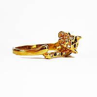 Золотое кольцо с цирконием Пантера