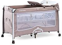 Детская кровать манеж Caretero Deluxe Beige