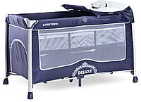 Детская кровать манеж Caretero Deluxe Navy