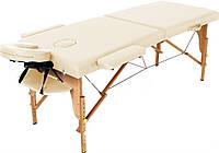 Двухсекционный массажный деревянный стол(Кушетка)