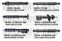 Амортизатор задний KAYABA 344277, 443111, 344277J; OPTIMAL A1652H; BILSTEIN BNE6783 на Москвич 2141, Audi 100