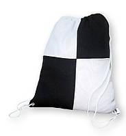 Рюкзак габардин клетка для сублимации цвет Черный