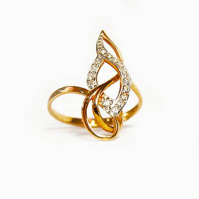Золотое кольцо с цирконием 108115