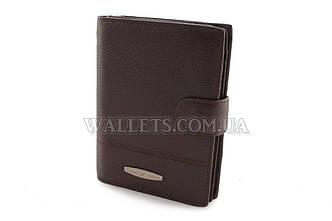 Мужское кожаное портмоне TAILIAN, с отделом для паспорта,коричневое