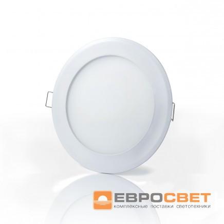 Светильник LED-R-120-6 6Вт 6400К 120мм встраиваемый