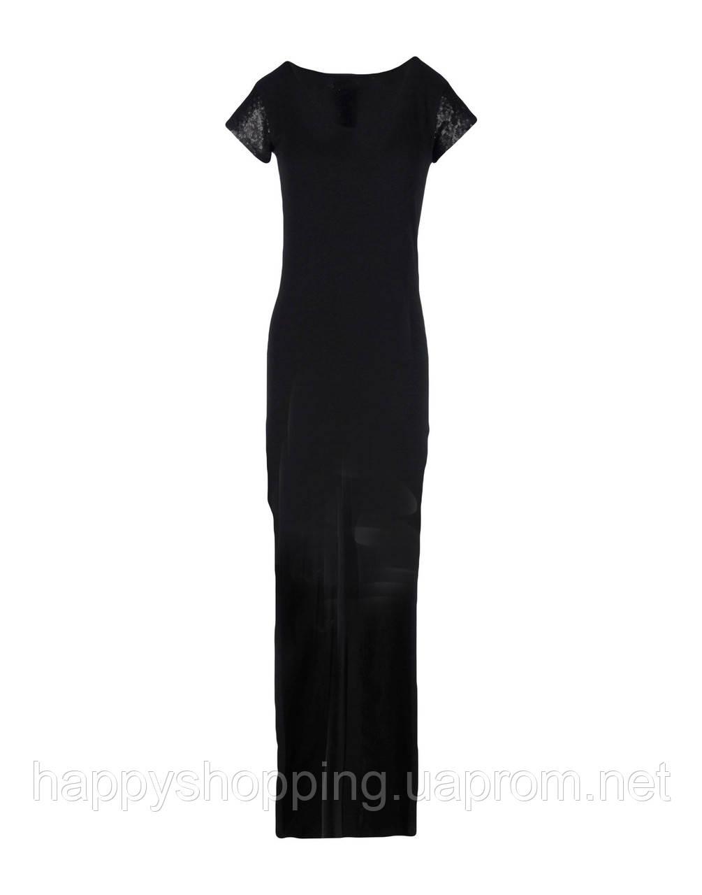 Черное каскадное платье Golden Rich