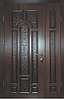 Входные двери полуторные Арка Патина