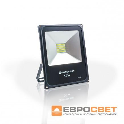 Прожектор EVRO LIGHT EV-50-01 50W 180-260V  6400K 3500Lm c датчиком движения