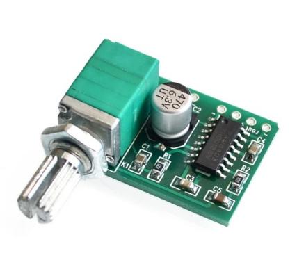 Схема PAM8403 усилитель 3Вт с регулятором #100352