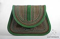 Женская кожаная сумка ручной работы (плетеная) LOD-13