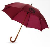 Классический зонт трость с деревянной ручкой