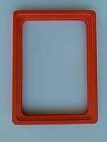 Рамка пластиковая формата A6 оранжевая