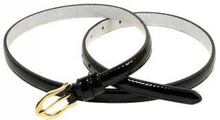 Лаковый Ремень Женский искусственная кожа H2113-2 black, черный, ДхШ: 100х1,5 см