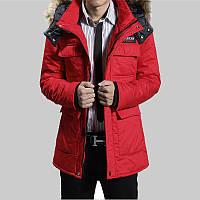Мужская зимняя куртка парка В НАЛИЧИИ, красный. РАЗМЕР XXL (PN_02)