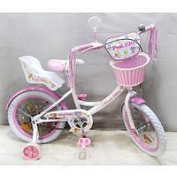 Велосипед детский Profi 18 PK1854G-B Kitty