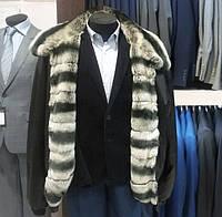 Куртка кожаная мужская 58-64 меховая подкладка шиншиловый кролик бобрик