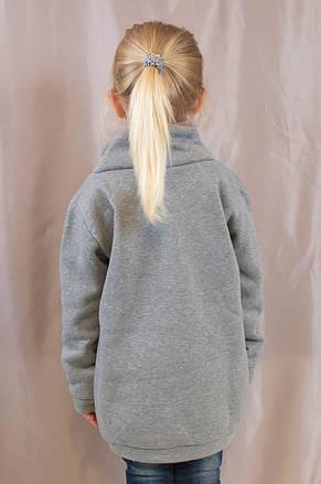 Красивый теплый батник на девочку с Эйфелевой башней из стразиков 46547adf11e69