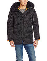 Куртка Alpha Slim Fit N-3B Parka - Black/orange