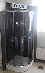Душова кабіна Devit Nymfa FEN0301GDEV (90х90х195 см) з піддоном 15 см