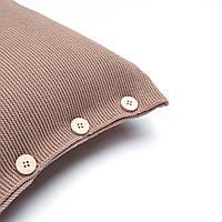 Наволочка декоративная на пуговицах Ohaina 40х40 цвет цвет выгоревший лен