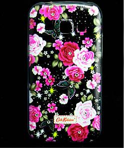 Чехол накладка для Samsung Galaxy J1 J100 силиконовый Diamond Cath Kidston, Ночные розы