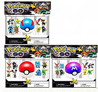 """Набор покебол с фигурками """"Pokemon Go"""" PG-0007"""