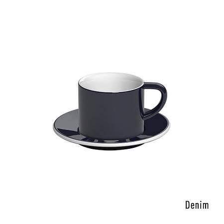 Набір чашка та блюдце для  капучіно 150ml Cappuccino Cup & Saucer - WBC 2016 Brew Bar Cups (Denim)
