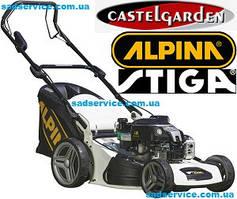 Запчасти для газонокосилок Alpina, Stiga, Castelgarden